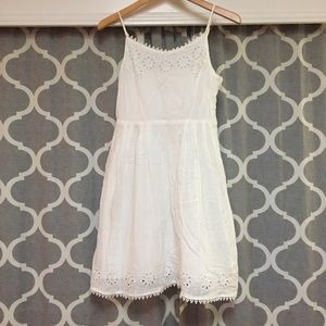 White Cami Dress With Embroidery-Style Detail